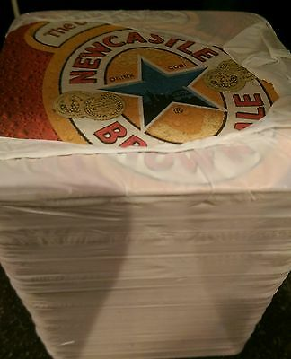 NEWCASTLE BROWN ALE BEER MATS / COASTERS (x100) - NEW / SEALED PACK