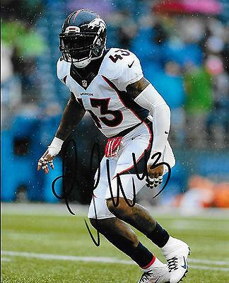Denver Broncos #43 TJ WARD Signed Autographed Football 8x10 Photo COA! PRO (Denver Broncos Autographed Pro Football)