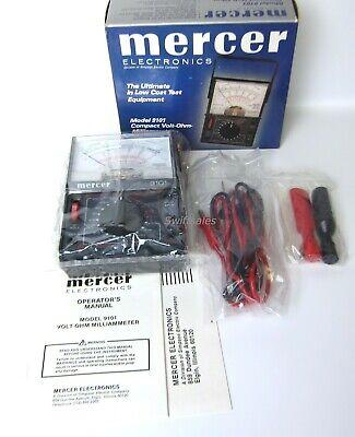 Mercer Electronics 9101 Volt Ohm Milliammeter - New Vintage Analog Multimeter
