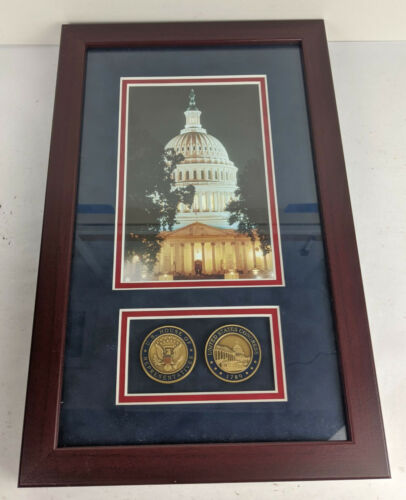 United States House of Representatives & Congress Challenge Coins Framed Picture