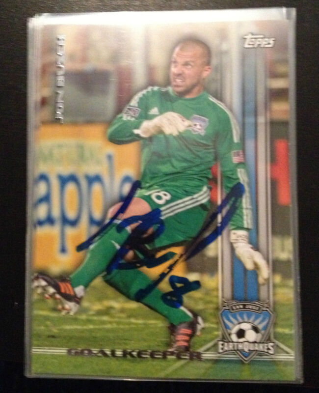 San Jose Earthquakes Jon Busch Autographed Signed 2013 Topps MLS Card