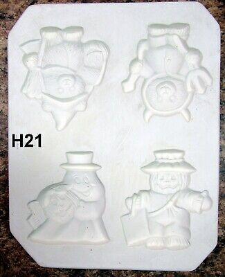 Vintage 1990 Riverview #602 Halloween Critter Magnets Ceramic Mold (H21)](Halloween Ceramic Molds)