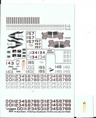 Warbird 80' Elco PT Boat General Details, Decals 1/48 043 For MERIT Kit ()