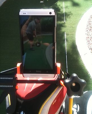 Golf Cam Smartphone Android Iphone Camera Caddy Stand Holster Swing Analyzer Aid