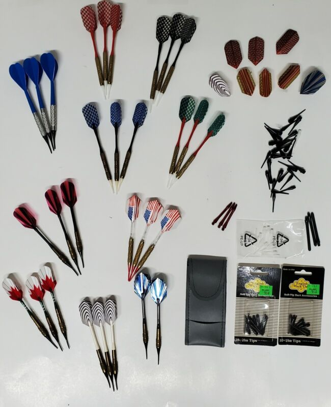 Lot Of Soft Tip Darts Shafts Tips Flights New And Used
