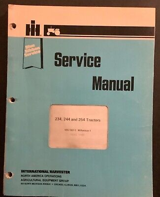 Ih International Blue Ribbon Service Manual Gss-1507-1 234 244 254 Tractors