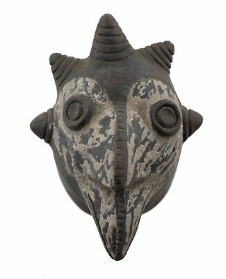 Masquette Votive Terracotta Zoomorphic Mask Fetish Ritual Art African 6372