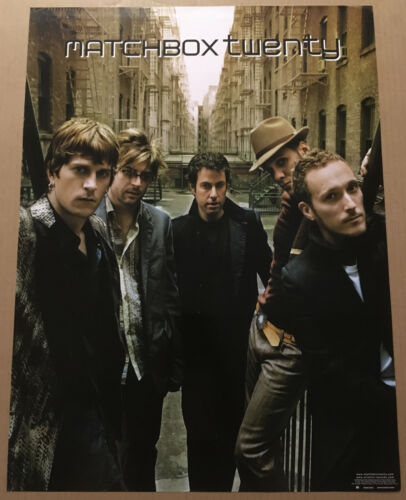 Rob Thomas MATCHBOX TWENTY Rare 2002 PROMO POSTER for More CD 18x24 MINT 20 USA