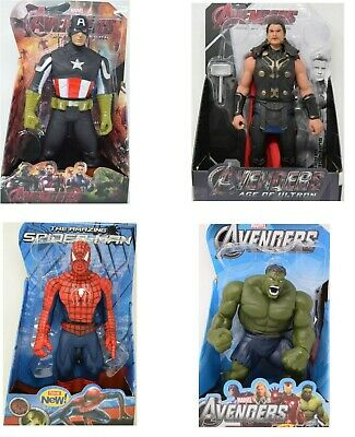 """12"""" ACTION FIGURE SUPER HERO AVENGERS SERIES - CHOICE OF 4 SUPER HEROES - NEW"""