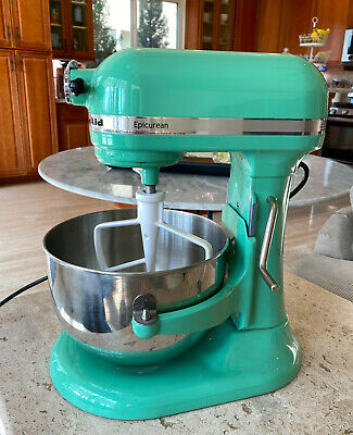 Williams Sonoma KitchenAid Epicurean Stand Mixer Seacrest Jadeite Green 6 qt.