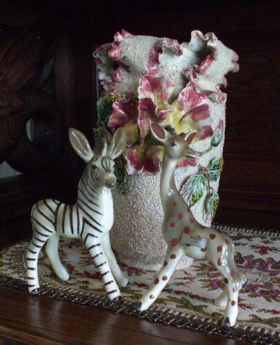 Vintage Ceramic Giraffe & Zebra Figurines Robert Simmons Ceramics California