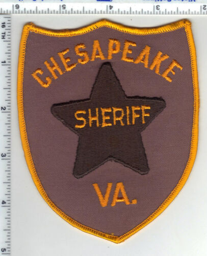 Chesapeake Sheriff (Virginia) Shoulder Patch from the 1980