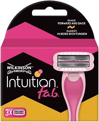 Wilkinson Sword Intuition Fab (3 Pack) Womens Bi-Directional Razor Blades