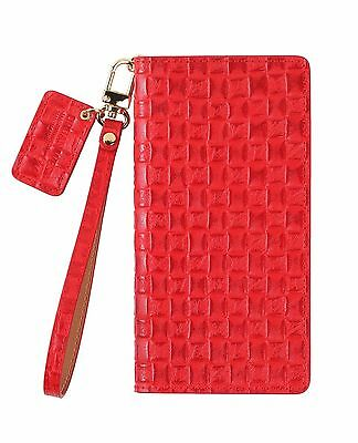 For iPhone 11 Pro Max / URBANWEST Mesh Pattern Leather Handmade Cell Phone Case