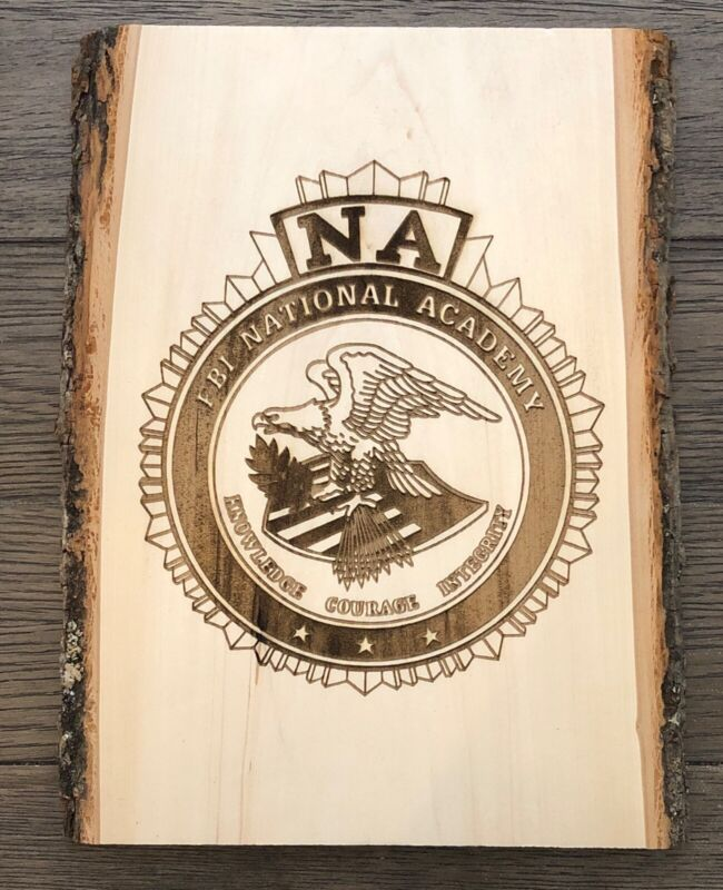 FBI National Academy Wall Plaque Laser Engraved Wood