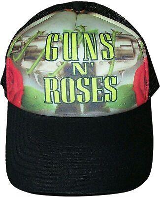 Guns N Roses - Roses And Pistols Foam Trucker Hat Snap Back Cap