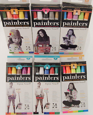Elmers Markers - Elmers Painters Opaque Paint Markers Fine, Medium, Chisel, Colors, Your Choice !