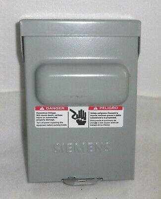 Siemens Wn2060 Ac Disconnect Switch 60 Amp 240 Volt Rain Proof New No Box