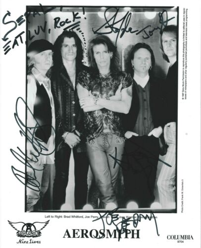 Aerosmith photo w/reproduction signatures archival quality,  002
