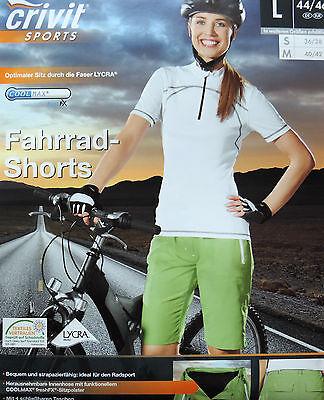 Damen Fahrradhose S M L Fahrradshorts Bikeshorts Radhose Kurz Mountainbike NEU