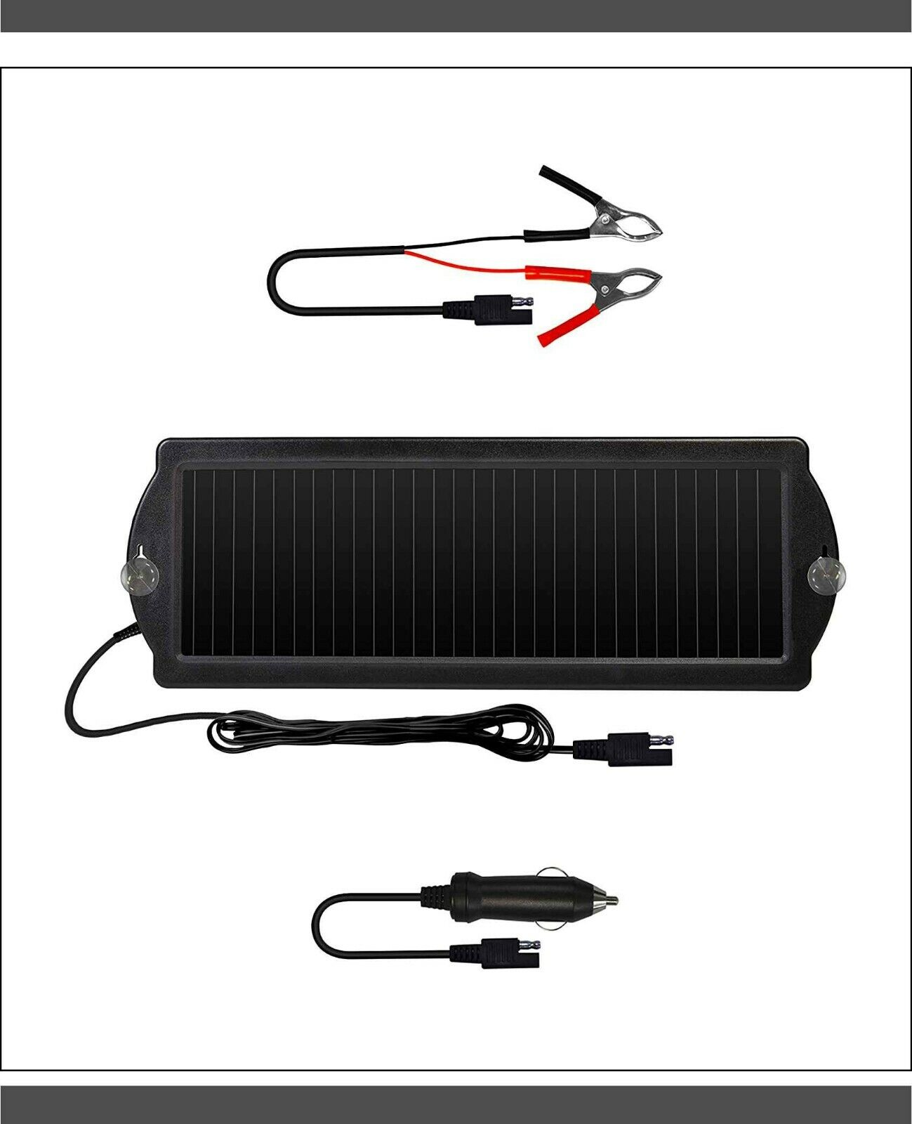 12v solar battery charger maintainer car boat