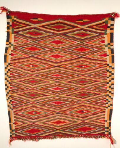 The Finest Navajo Germantown Eyedazzler Sunday Saddle Blanket, Excellent, c1880s