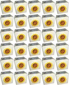 30 Stück Teelichthalter m Teelicht Kerzenhalter Sonnenblume Keramik Sonderposten
