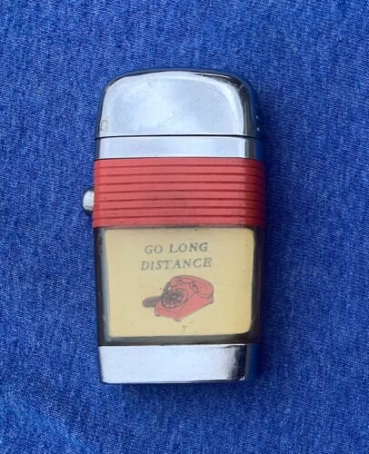 Vintage SCRIPTO VU Slim Lighter  Go Long Distance Rotary Phone