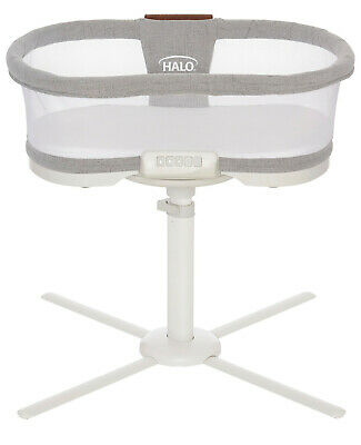 HALO Luxe Next Gen Swivel Sleeper Bassinet Infant Baby Crib Dove Grey Tweed