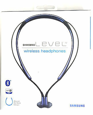 Samsung Level U Bluetooth Headset Wireless Dual Mic Noise Reduction -Sapphire