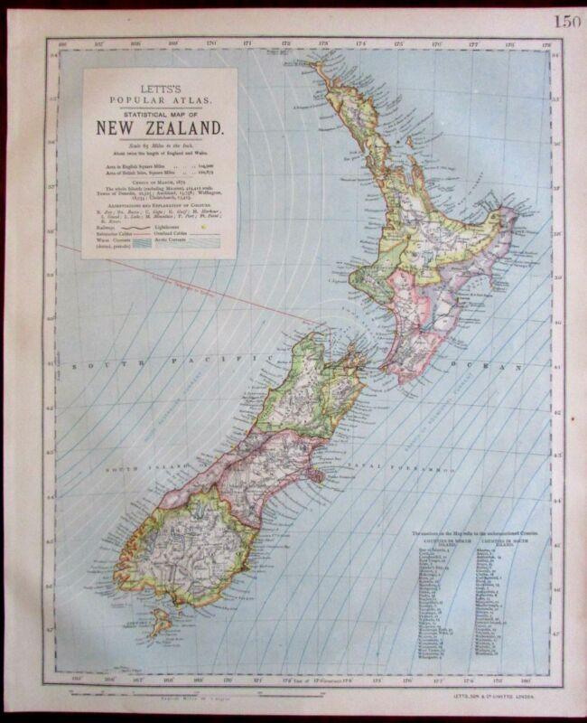 New Zealand 1883 Lett