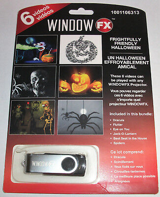 Holiday Window - WINDOW FX FRIGHTFULLY FRIENDLY HOLIDAY PROJECTOR ANIMATED 6 VIDEOS USB DRIVE NEW
