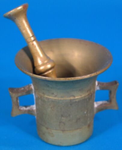 Vintage Solid Brass Apothecary Mortar w/ Pestle