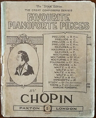 Favourite Piano Forte Pieces by Chopin – Pub. 1932