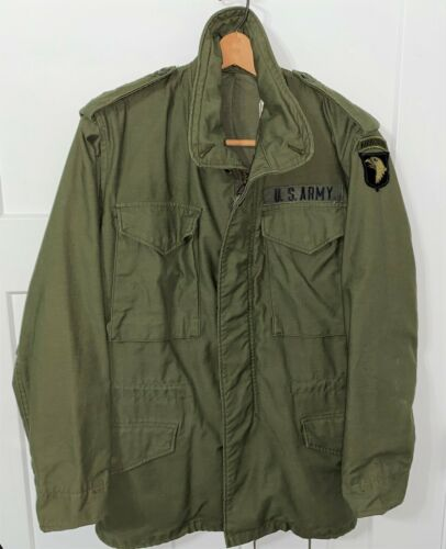 GENUINE US ARMY M65 FIELD JACKET - 101st AIRBORNE DIVISION - X-SMALL = NICE!