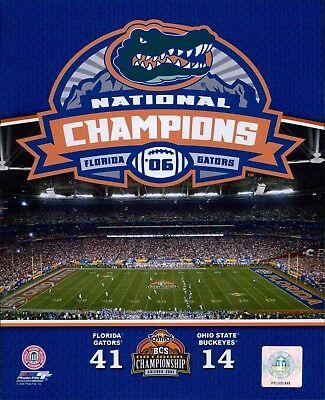 - 2006 Florida Gators Champions BCS Bowl Football Licensed Glossy 8x10 Photo C