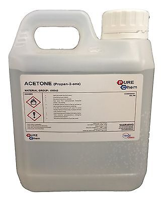 1L Jerry Container Pure Acetone - Acrylic Nail Remover Nail Polish Remover 99.8%