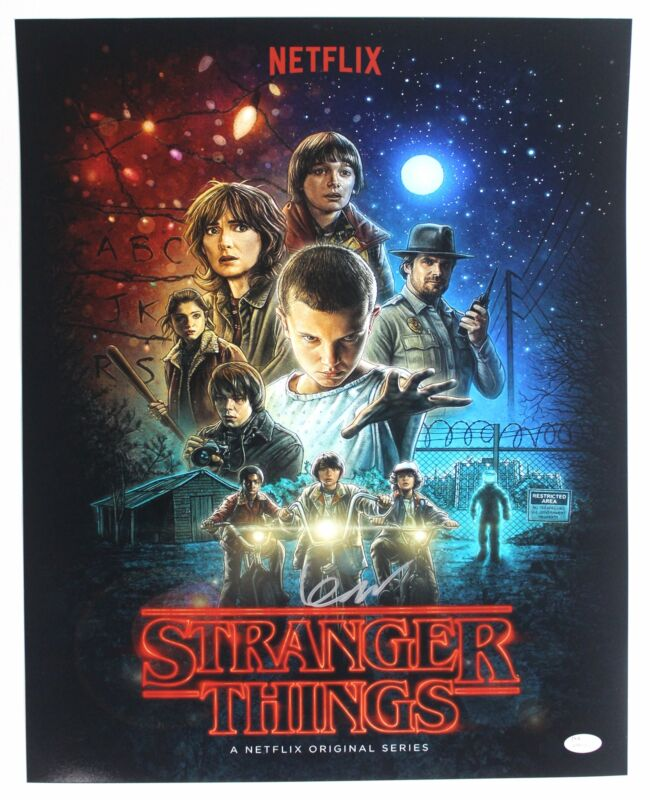 Finn Wolfhard Autograph 16x20 Stranger Things Photo Mike Wheeler Signed JSA COA