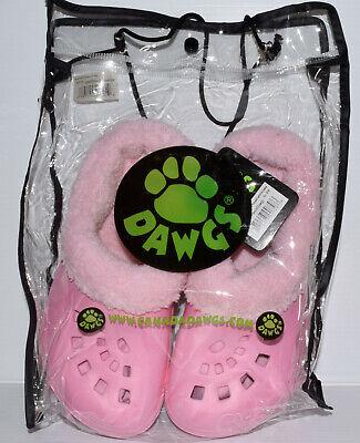 DAWGS Fleece Lined Shoes Clogs Sandals Women's Size 5/6 Soft Pink -