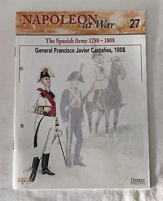 GENERAL FRANCISCO JAVIER CASTANOS Napoleon At War Del Prado Magazine #27 ONLY