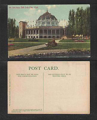 1910s SALT PALACE SALT LAKE CITY UTAH POSTCARD