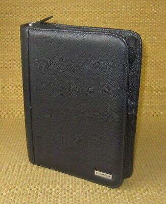 Classic 1.125 Rings Black Sim Leather Franklin Covey Plannerbinder W Tab