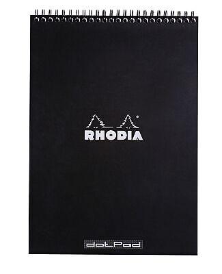Rhodia Wirebound Notebook 8 14 X 11 34 Dot Pad Black