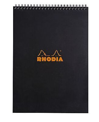Rhodia Wirebound Notebook 8 14 X 11 34 Graph Black