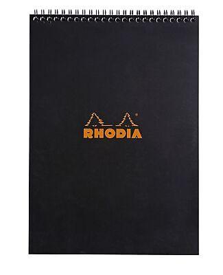 Rhodia Wirebound Notebook 8 14 X 11 34 Graph Black