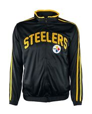 Pittsburgh Steelers Ron Style Embroidered Full Zip Track Jacket, NFL Black A14