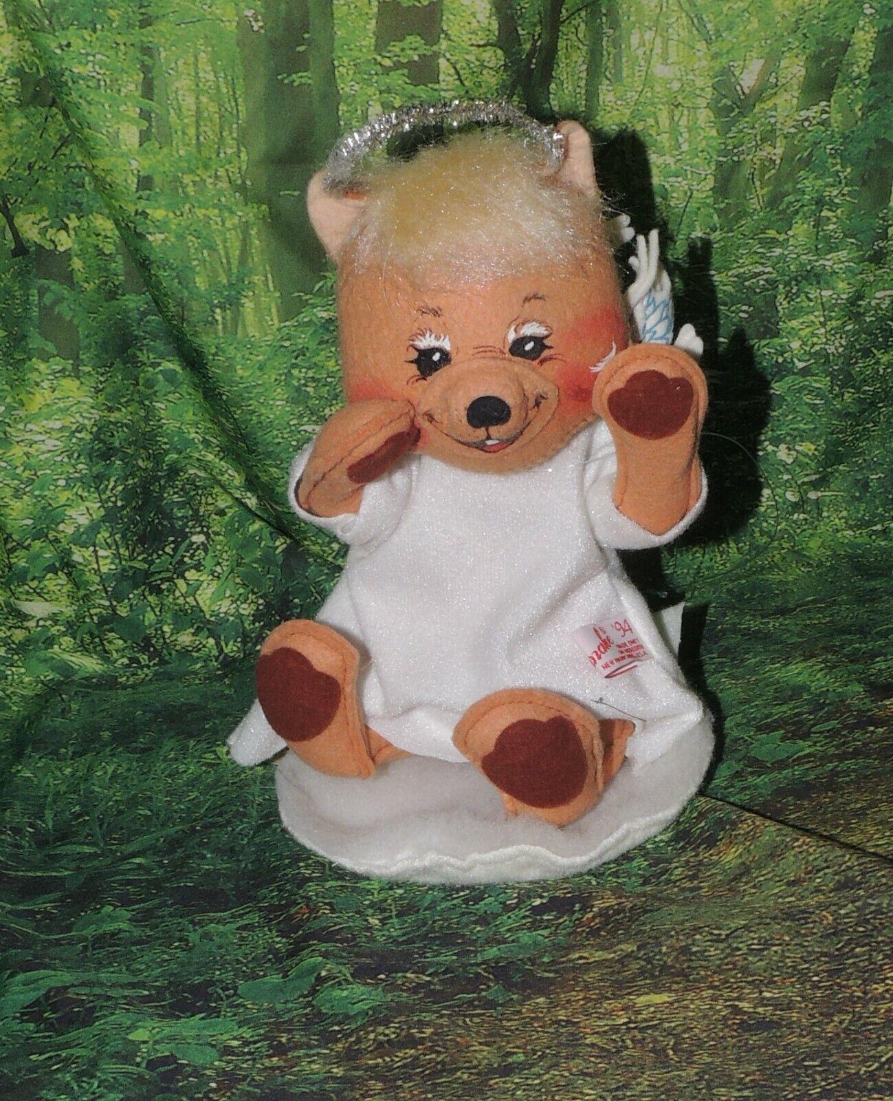 """Annalee Dolls 1993 - 10"""" Angel Bear #8053 ~w Tag...LOOK"""