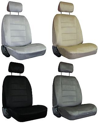 for 2002-2004 JEEP LIBERTY 2 Quilted Velour Encore Solid Colors Seat Covers ()