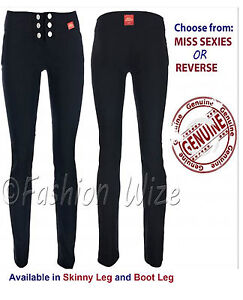 NEW GIRLS BLACK GREY SCHOOL TROUSERS SIZES 6-16 SEXY MISS SEXIES/REVERSE