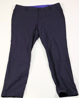 Eddie Bauer womens size 14 navy blue stretch pants hiking nylon spandex